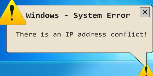 что такое конфликт ip адресов