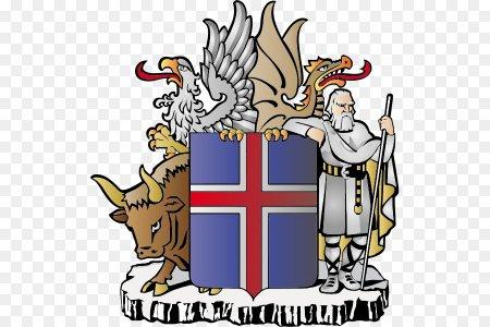 Что изображено на гербе Исландии?
